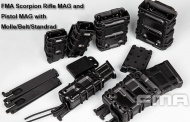 FMA Scorpion Rifle Mag / Pistol Mag Carrier in Molle/Belt/Standrad