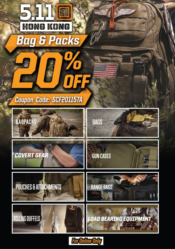 511 Bags & Pack Special - 20% OFF