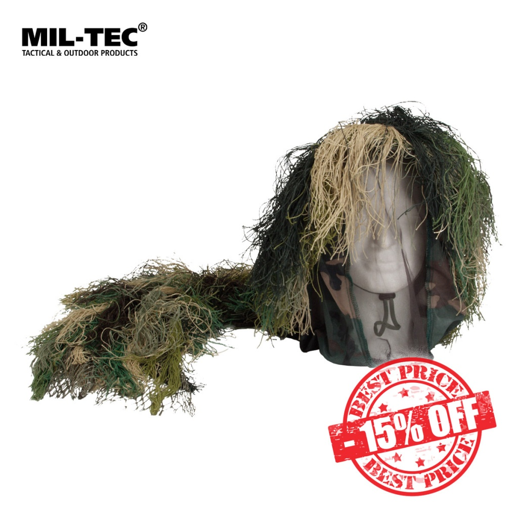 Mil-Tec Camouflage Bush Head Cover Woodland Sale insta