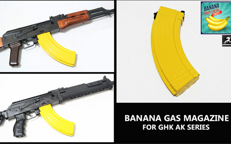 SAMOON and all new GHK GKM Gas Magazine in BANANA STYLE
