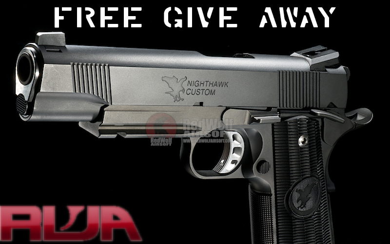 RWA Nighthawk Custom Covert Ops Giveaway & Ghost Recon: Wildlands Sale @ RedWolf Airsoft