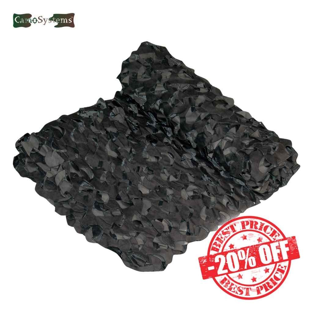 Camosystems Netting Crazy Camo 3x24 Black Dark Grey Sale insta