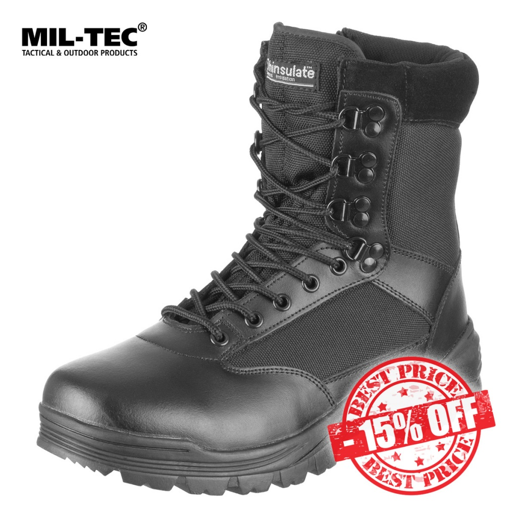Mil-Tec Tactical Side Zip Boots Black Sale insta