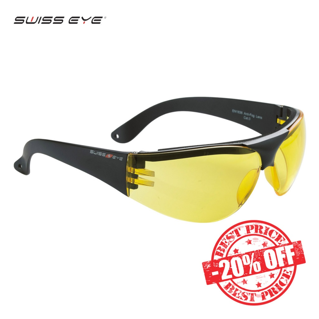 Swiss Eye Outbreak Protector Glasses Black Frame Yellow Lens Sale insta