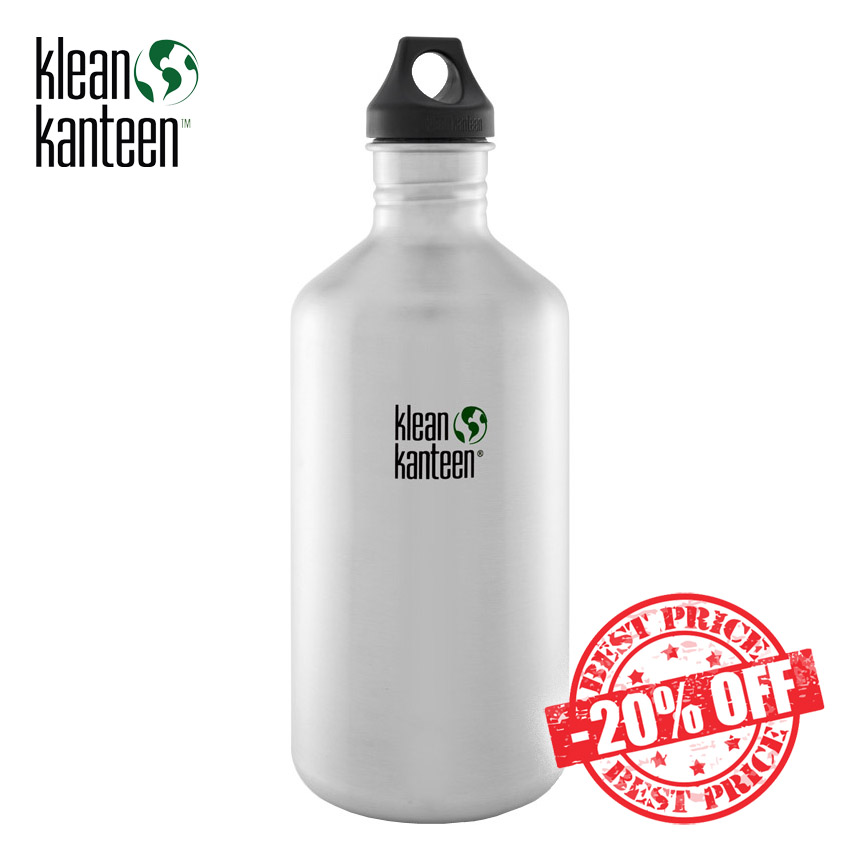 Klean Kanteen Classic 1900ml Bottle with Loop Cap Brushed Stainless insta sale