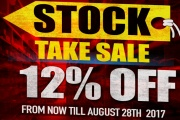 RedWolf where you can get 12% OFF On Their Stock Take Sale!