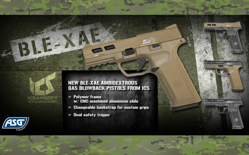 ASG - new ICS Black Leopard Eye XAE pistol series in stock