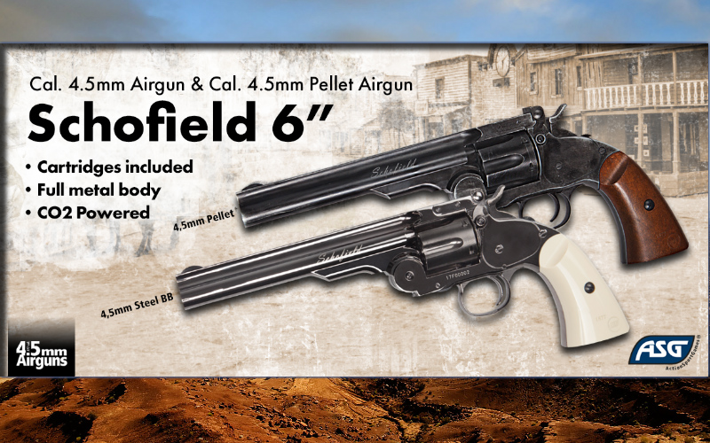 ASG - The iconic Schofield revolvers CO2 Airgun versions released!