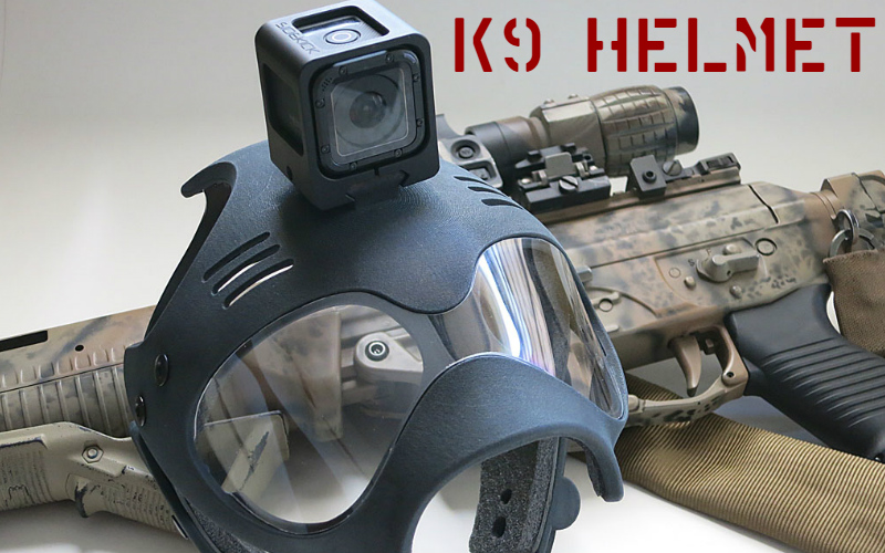 A helmet for your trusty K9 partner