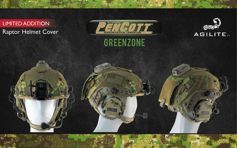Limited-Edition GreenZone® RAPTOR™ Helmet Cover
