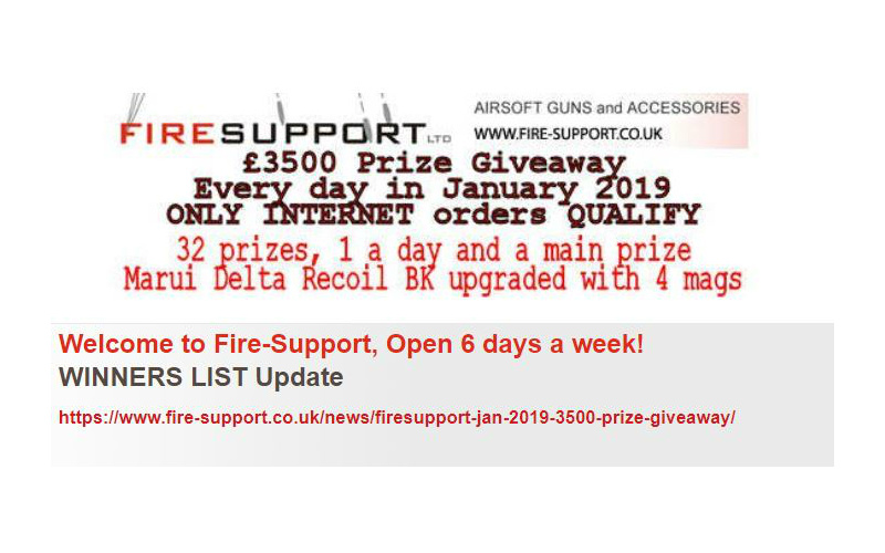 Firesupport giveaway the winners up to day 29