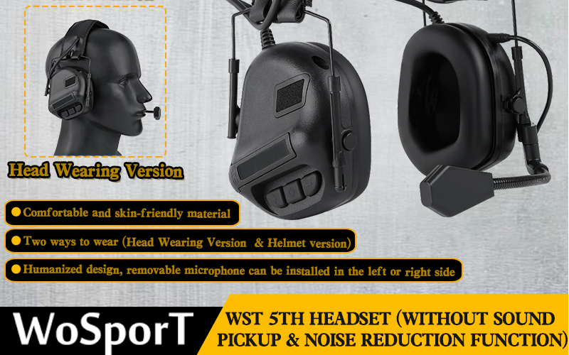 WoSport WST 5Th Headset in stock
