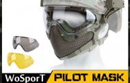 WoSport new Pilots Mask with steel mesh