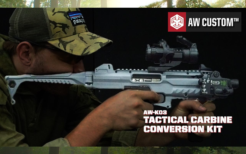 AW Custom tactical carbine conversion kit is here and it looks good.